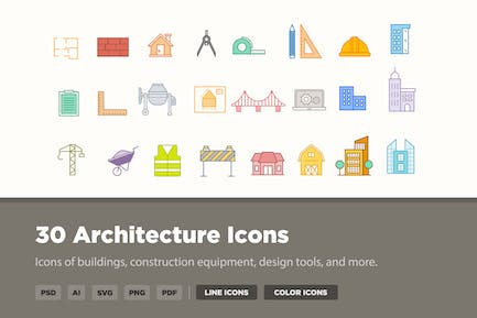 30 Architecture Icons