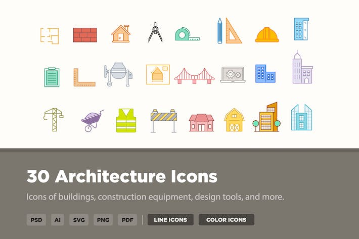 Thumbnail for 30 Architecture Icons