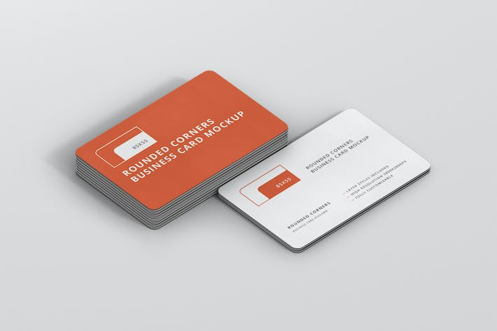 Thumbnail for Business Card Mockup Stack Round Corners