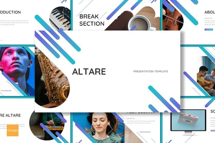 Thumbnail for Altare - Музыкальный инструмент GSlides Шаблон