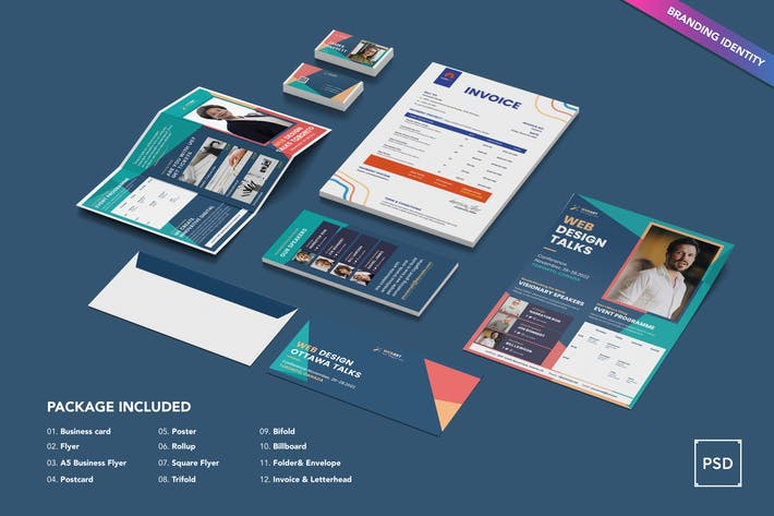 Thumbnail for Conference Identity PSD Template
