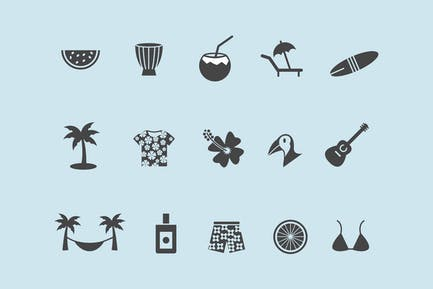 15 Tropical Icons
