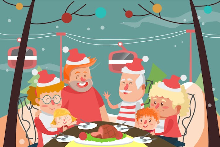 Thumbnail for Big Family - Vector illustration