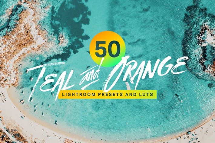 Thumbnail for 50 Teal and Orange Lightroom Presets and LUTs