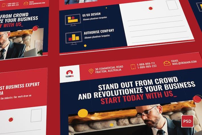 Fresh Startup Business Carte Postale Modèle PSD