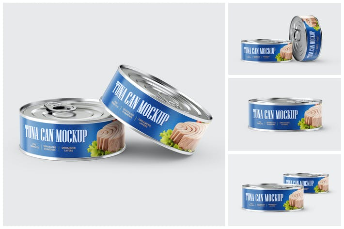 Tuna Tin Can Mockup Set
