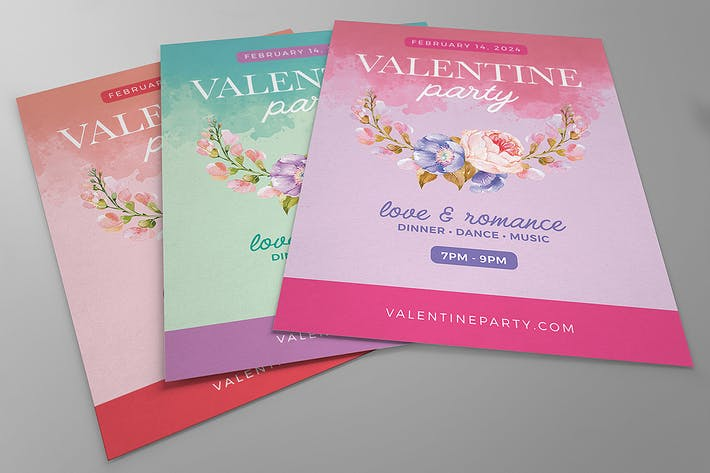 Thumbnail for Sweet & Pretty Valentine Party Flyers