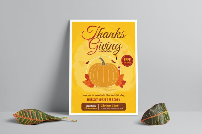 Thumbnail for ThanksGiving Day Flyer Template