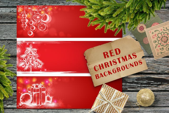Thumbnail for Red Christmas Backgrounds