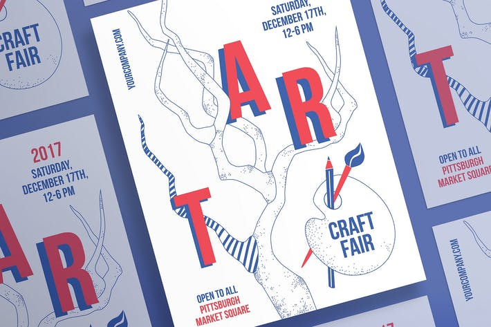 Thumbnail for Craft Fair Poster Template
