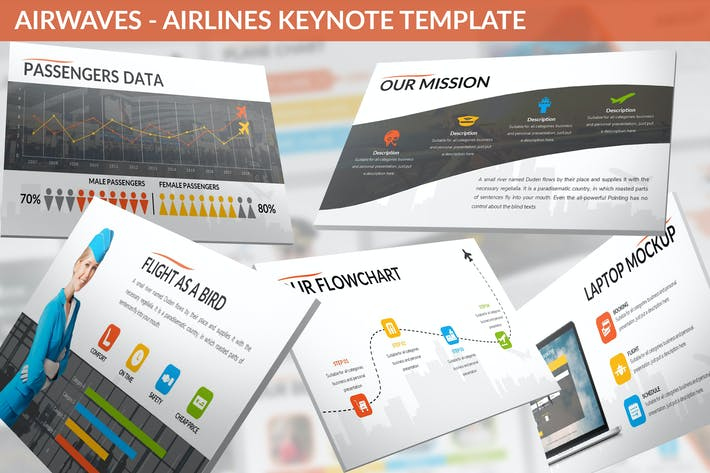 Thumbnail for Airwaves - Airlines Keynote Template