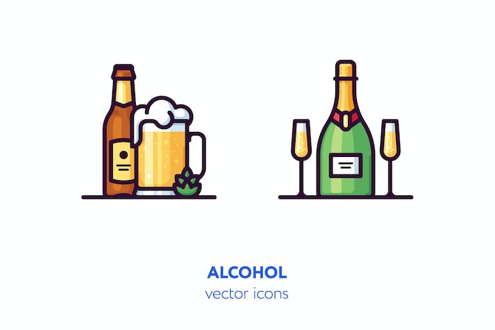 Thumbnail for Alcohol icons