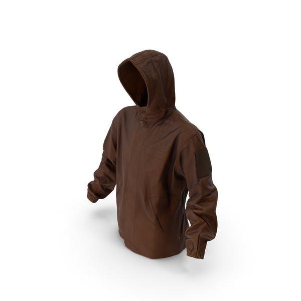 Military Brown Jacket Hood