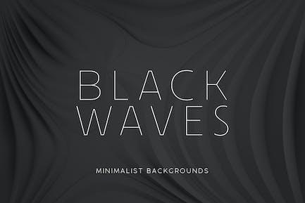 Black Minimalist Wave Backgrounds 2