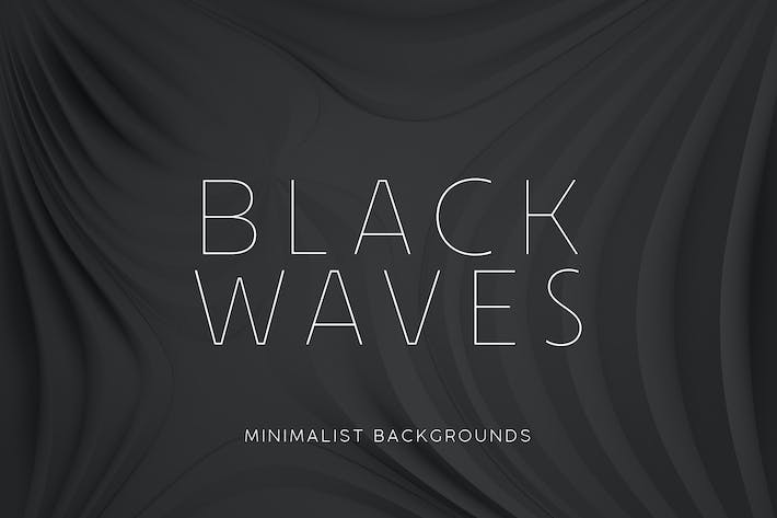 Thumbnail for Black Minimalist Wave Backgrounds 2