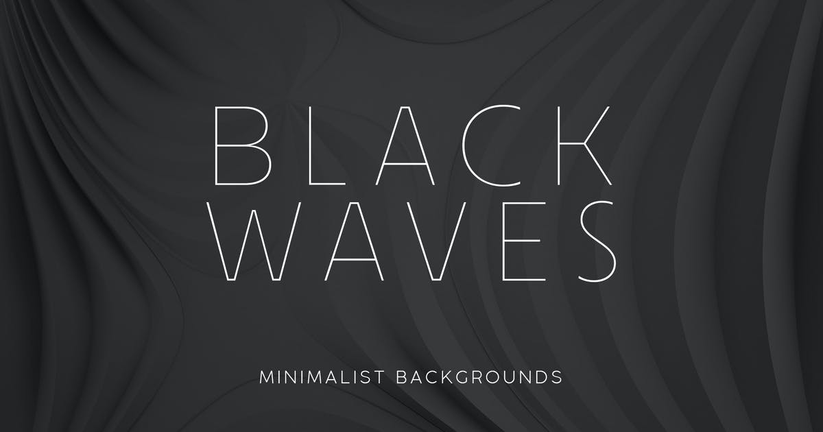 Download Black Minimalist Wave Backgrounds 2 by M-e-f