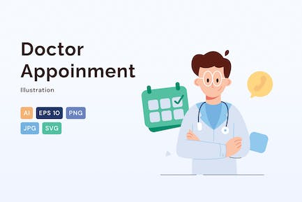 Doctor Appointment, Healthcare Illustration