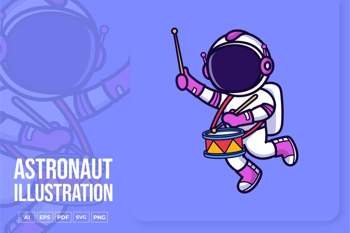 Thumbnail for Astronaut spielt Drum