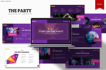 Start On The Party   Powerpoint Template
