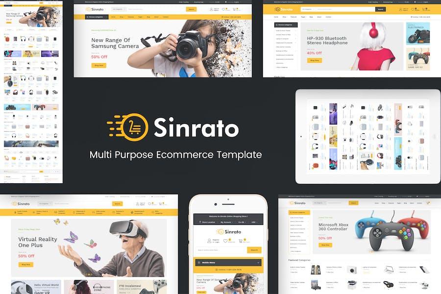 Sinrato - Mega Shop OpenCart Theme