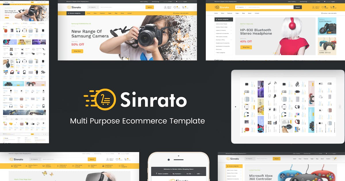Download Sinrato - Mega Shop OpenCart Theme by Plaza-Themes
