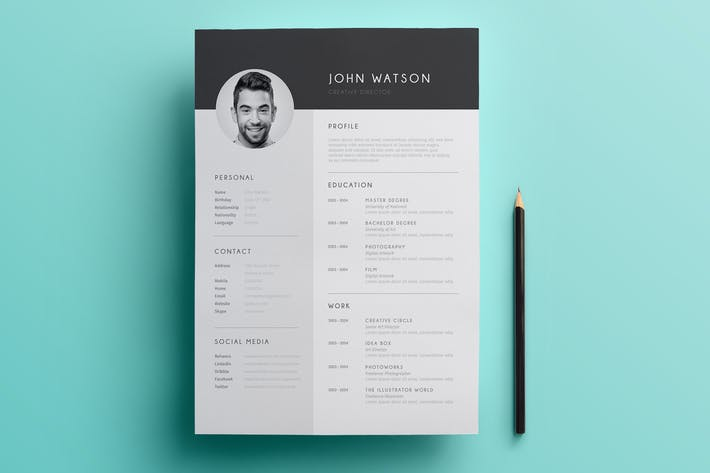 Thumbnail for Minimalist Resume 02