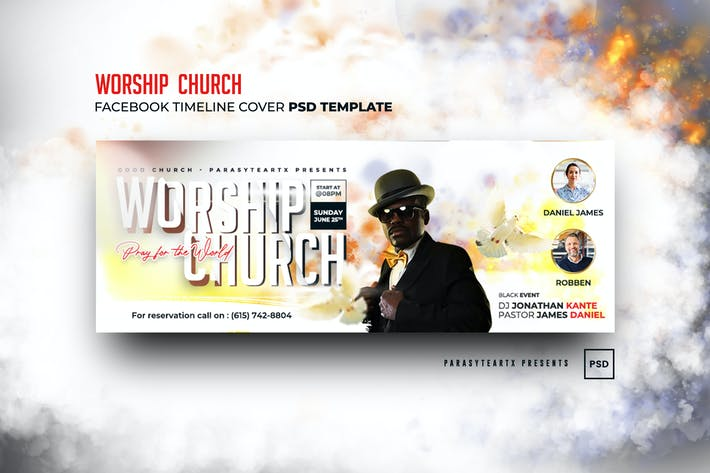 Worship Church Facebook Timeline Cover