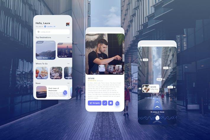 Thumbnail for Navigation Mobile UI Kit - TG