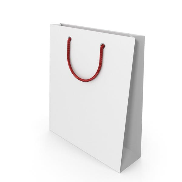 White Packaging Bag with Red Handles