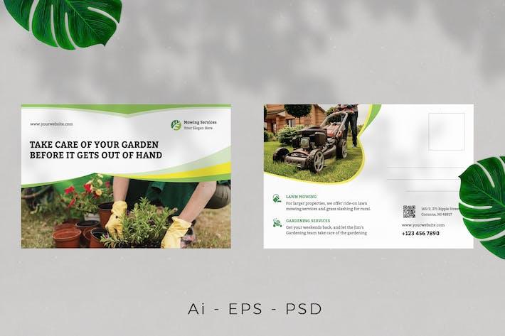 Thumbnail for Lawn / Gardening Postcard Design