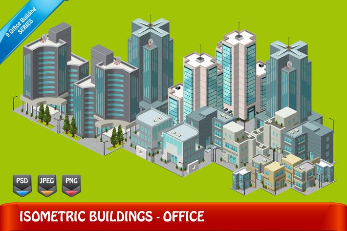 Thumbnail for Isometric Building - Set 9 Office YR