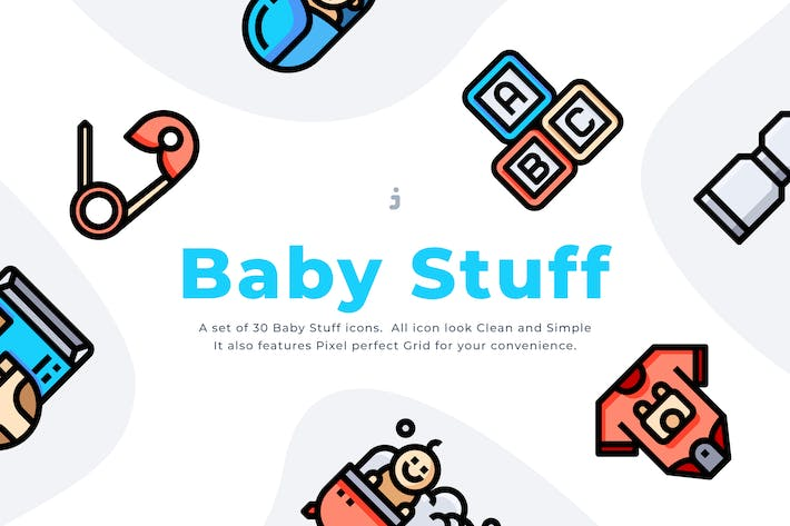Thumbnail for 30 Baby Stuff Icon set