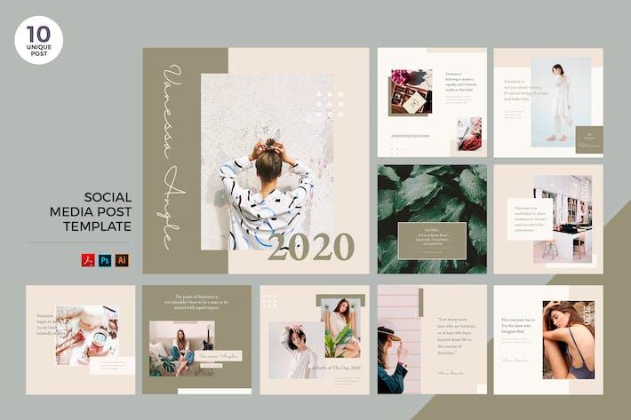 Thumbnail for Elegant Fashion Social Media Kit PSD & AI Template