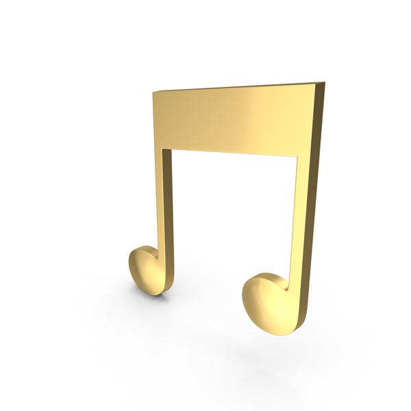 Golden Musical Note