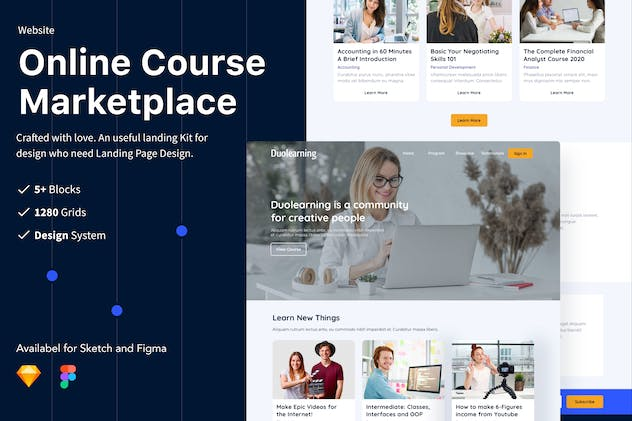 Online Course Marketplace Website UI/UX