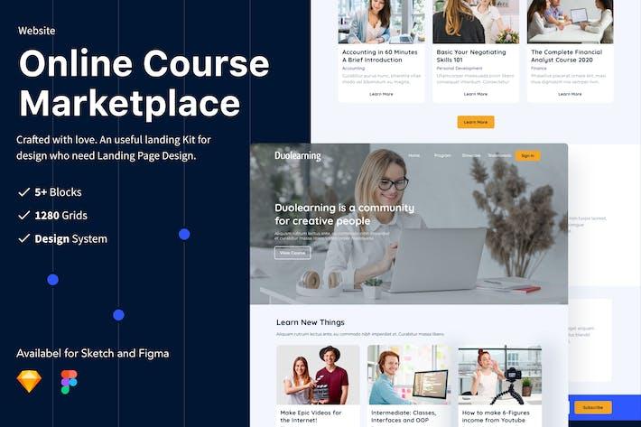 Thumbnail for Online Course Marketplace Website UI/UX