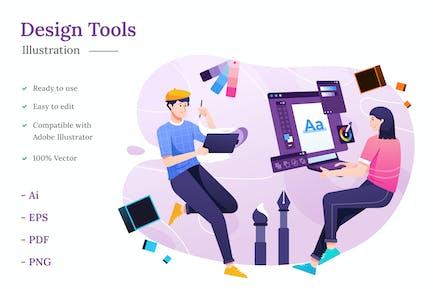 Иллюстрация инструментов проектирования