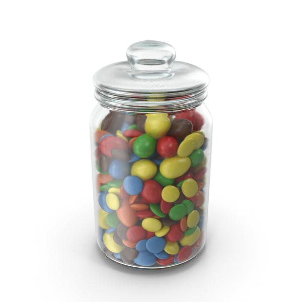Thumbnail for Jar with Mixed Color Coated Chocolate Candy