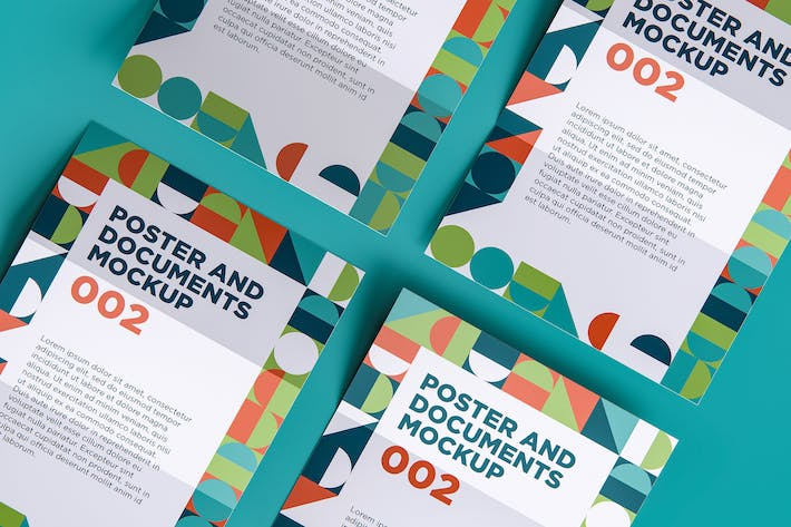 Thumbnail for Poster And Documents Mockup 002