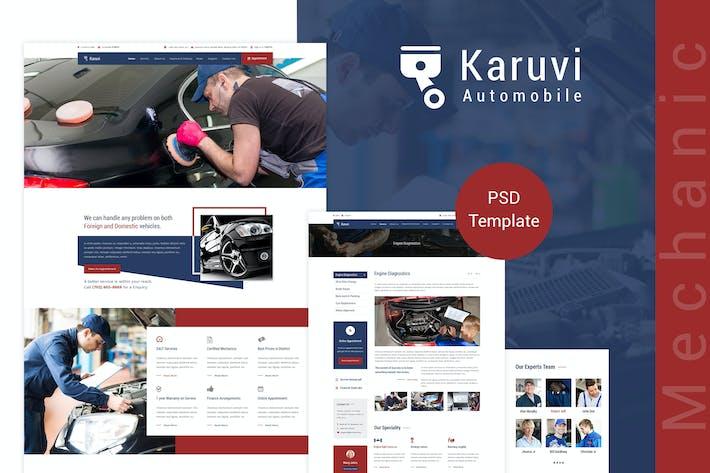 Thumbnail for Karuvi | Car Mechanic PSD Template