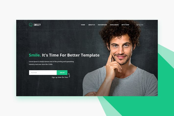 Thumbnail for Smiley - PSD Business & Startup Landing Page