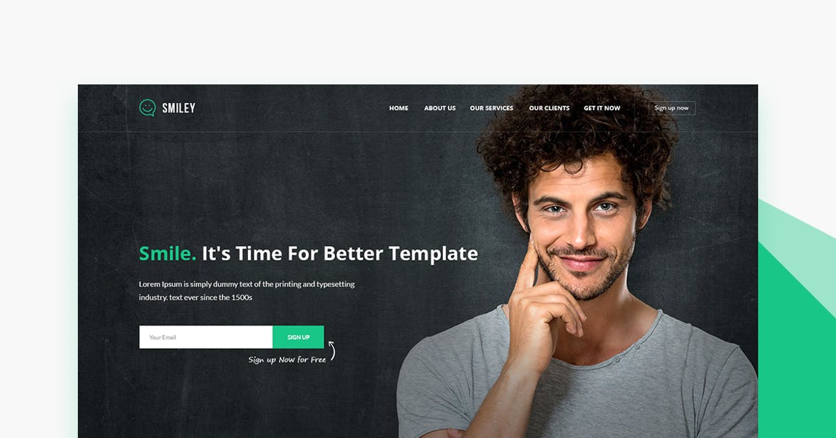 Download Smiley - PSD Business & Startup Landing Page by ExplicitConcepts