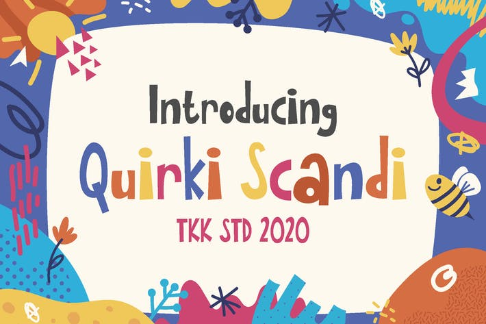 Thumbnail for Quirki Scandi - Children fun poster font