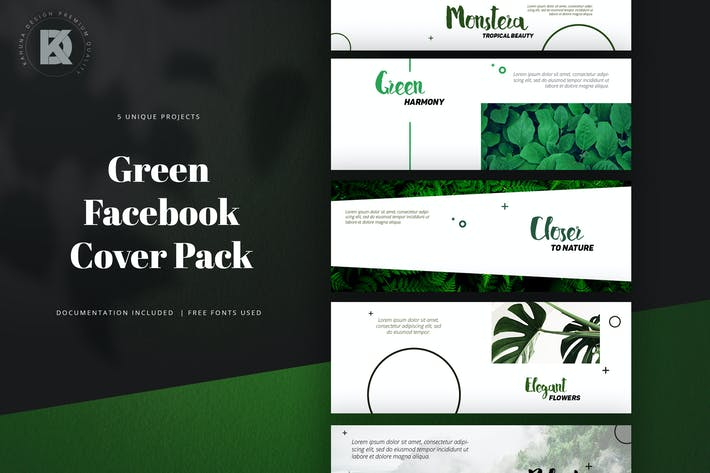 Thumbnail for Facebook Green Cover Pack