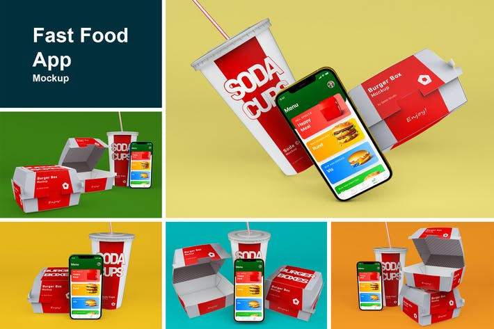 Thumbnail for Fast Food App Mockup