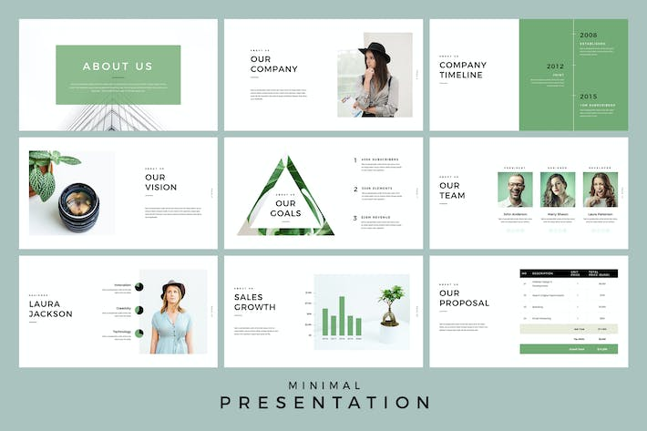 minimal presentation google slides template by jafardesigns on