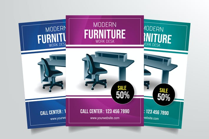 Thumbnail for Modern Furniture Work Desk Flyer Template