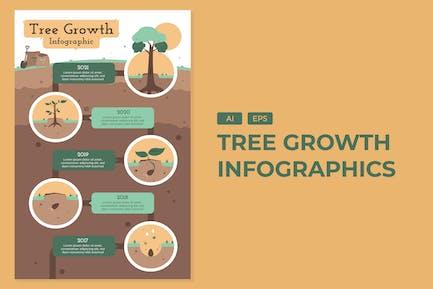 Tree Growth - Environement Infographics