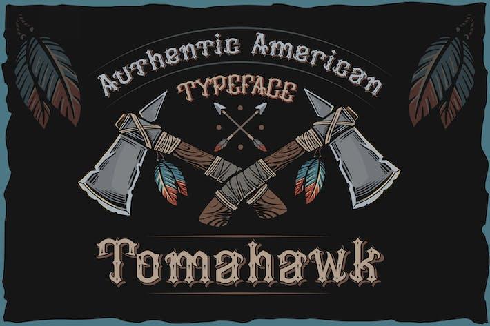 Tomahawk - fuente auténtica americana