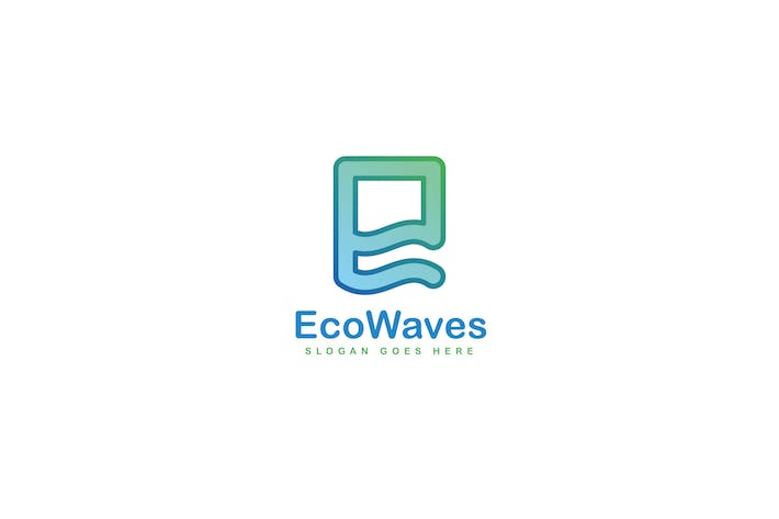 Thumbnail for Eco Waves Logo Template